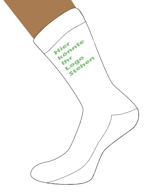 Logo Socken als Werbemittel