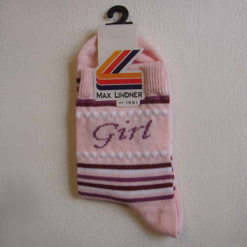 kindersocken rosa girl