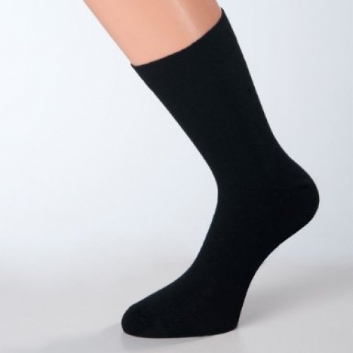 schwarze business-herrensocken baumwolle