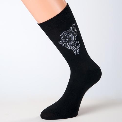 schwarze tattoo-socken baumwolle