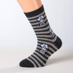 Socken Pirat dunkelgrau Größe 23, 24, 25, 26