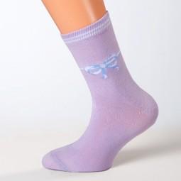 Socken Schleife lila Größe 23, 24, 25, 26