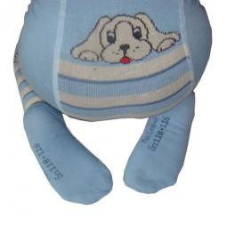 Kinderstrumpfhose Lustiger Hund blau Größe 86-92