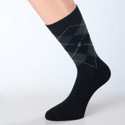 Socken schwarz Muster grau Größe 42, 43, 44